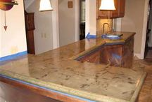 Interior Concrete Designs / When most people think concrete, they think of their driveway or some big, ugly, industrial project. In reality, concrete can rival granite, marble, and tile in beauty. But concrete is far more versatile, economical, and environmentally friendly.