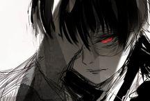 黒々 / Black haired Kaneki.