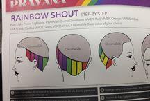 hair inspo rainbow designs