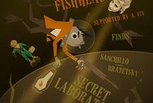 Leo Fishhead Gig Posters