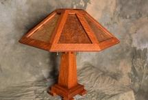 Saugatuck Mission Oak Lamp Lighter Brown