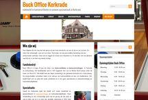 portfolio / overzicht van gemaakte websites. Eerste website was voor Buck Office http://www.kantoorartikelenkerkrade.nl/