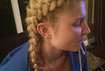 Braids / Different braids my friend practices on my hair / by Amanda Sedivy