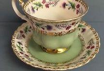 Porcelain cup and pot