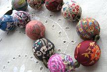 beads, fabric etc