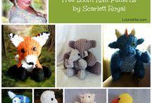 Loom knit stuffed animals