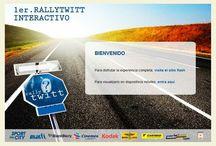 """Rallytwitt interactivo / http://rallytwitt.com/ Armado del sitio, incluyendo una versión """"light"""", para dispositivos móviles, para complementar la promoción se requirió hacer una campaña de correos masivos (emailing)"""