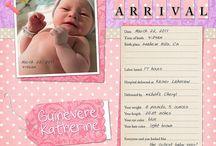 Scarlett's baby scrapbook ideas