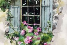 Watercolour - window painting