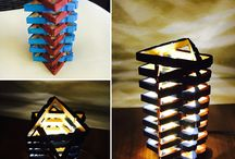 Hand made table lamp / 6.5 inches tall and 3.5 inches wide customised table lamp