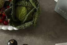Countertops by Nordiska Kök / Nordiska Kök - kitchens to live in, unique and tailor-made to suit your life, today and tomorrow. For more kitchen inspiration visit www.nordiskakok.se #kitchen #bespokekitchen #interior #architect #grey #limestone #white #framekitchen #minimalism #minimalistic #wood #kitchendesign #kitchenideas #greykitchen #design #designtrends #beautifulkitchens