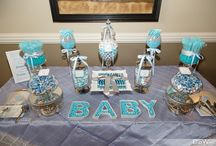 Baby blue candy buffet / Candy buffet for a baby boy