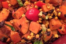 mexican salad- sweet potato