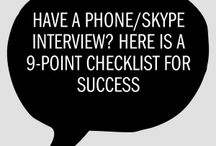 Skype & Over the Phone Interview Tips / Skype and telephone Interviews have become much more popular with that being said, this board will help you understand the changes that need to be made to your interview routine when stepping into a Skype/telephone Interview.   Here in the Career Development Center we have a Skype/telephone interview room available for you to reserve whenever suits you and your interview time. Just make sure to call a day or two prior to your interview to ensure we have the room available for you!