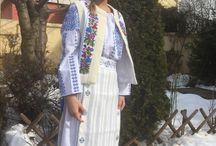 Romanian traditional blouse and dress