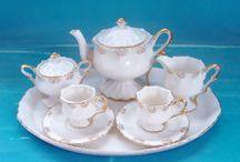 Mini tea sets/doll house furniture