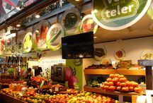 Markthal Rotterdam / Booths with daily fresh products | designed by Zuidkoop.