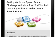 Runner Challenge / Speadi Runner Challenge - Who can get the most friends to become a Speadi Runner? The three players with the most sign ups win a free iPod Shuffle. / by Speadi