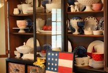 Labor Day Decorating! / End the summer on a festive and patriotic note! Find red, white and blue slipcovers, and start planning your Labor Day style!