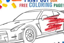 Free Car Coloring Pages / A board designed specifically for offering free coloring pages for both kids and adults. Contains coloring pages of various Nissan vehicles.
