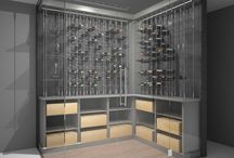 Cable Wine Cellars / Here are just some of the Custom Wine Cellars or Walls that have been built featuring the Cable Wine System! www.cablewinesystem.com