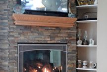 corner gas fireplace ideas / Installations by Great American Fireplace
