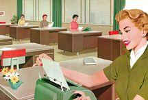 Vintage Office Girls