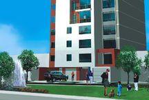 Edificio El Country / Exclusivo edificio de 13 pisos con 21 departamentos, dos por cada piso. Ubicación: Av. Joaquín Bernal 1080, Lince. Fecha de entrega: Setiembre del 2005