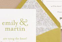 wedding invites / by Margaret Arnett