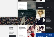 Web UI / A collection of beautiful web design. Not nessisarily usable / by Michael Wolthers Nielsen