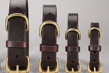 Basic Leather Collars / Handcrafted out of latigo leather and solid brass hardware. Built to last, guaranteed.