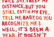 Lyrics to remember / by Janice Grace Carrillo