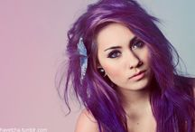 Purple/ Blue Hair
