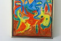 CoBrA painting by Jan van Stenholt / CoBrA- and modern abstract expressionism