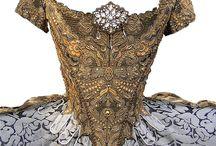 XVIII century court gowns
