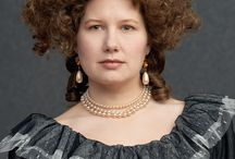 Our Historical Wig projects / photos of historically inspired wigs, hairpieces and facial hair we have created