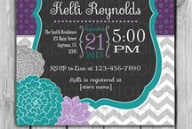 Purple and Teal Baby Shower