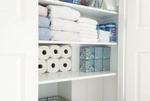 Home Organization / Organizing ideas for closets, cabinets, and bathrooms.