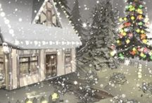 Christmas  Gifs / Oh ! Take me home to my childhood !! I love the twinkling lights and pure Snow