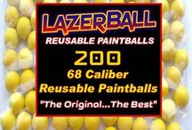 68 Cal Rubber Balls for Paintball Games / LazerBall Rubber Balls manufactured and designed to be shot with any standard .68 Caliber Paintball Gun