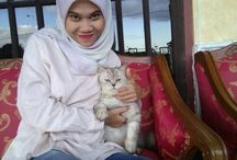 Me and cute cat