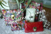 woven paper wallet/bag