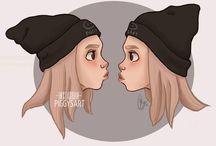 Lisa & Lena draw