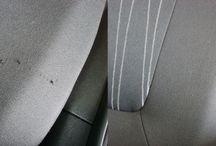 Stofreparationer på bilen / Brændemærker fra cigaretten. Syninger som er gået op.  Slitage på sæderne.