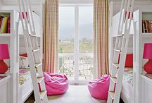 Girls bedrooms....bathrooms...white..colour