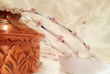 Handmade Wedding crowns. Greek wedding crowns.Orthodox stefana.