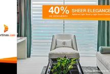 Cortinas Sheer Elegance en México / Encuentra variedad de cortinas sheer elegance en méxico, df, Cancún y Puebla - Compra y personaliza en linea tus cortinas sheer enlace.