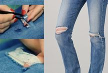 DIY ripped jeans