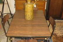 Retro Rosewood Formica Dining Table & 4 Chairs
