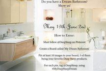 "Dream Bathroom Contest - I Won! / Do you have a dream bathroom? Show us! Rules: 2. Follow @DeepSteep on Pinterest 2) Create a board called ""My Dream Bathroom"" 3) Pin at least 10 photos to your board, 5 of them being #DeepSteep products! 4) For each pin, tag @DeepSteep #MyDeepSteepDream - Ends on 06.02.2014 / by Monica Kim"